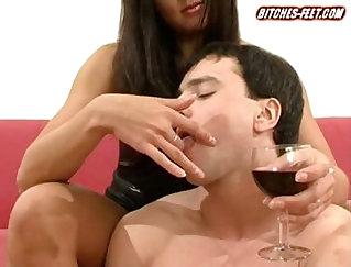 Cara Lemos - Femdom Scene - Slave feet fetish