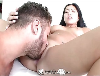 Bulky Asian big cock stomps her pussy