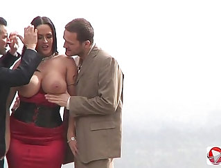 Public porn, gorgeous babes getting banged in public