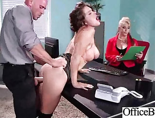 Blonde Brunette With Huge Boobs Fucks In The Office