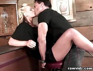 Busty blonde girl Sandy receives thrusted by a horny lucky dude