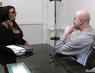 chubby woman in office masturbate on for you