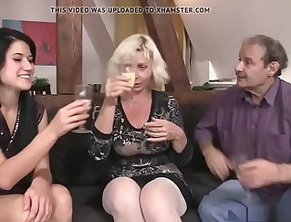 Classy anal stepmom banged in hot foursome
