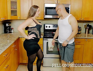 Big titted stepmom ass drilled in taboo trio