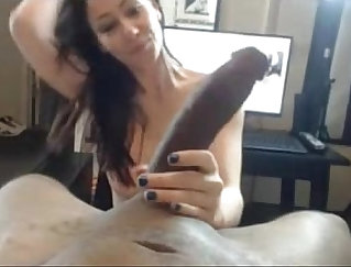 Black horny masseuse takes hot white cock