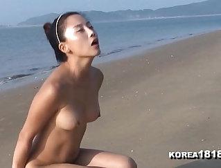Alyssa strangle On the beach with femdom fuckers