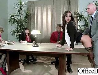 Busty slutty office girl Carolyn Tate gets