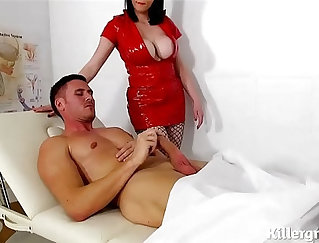 Busty Nurse Shows Off Her Big Cock To Her Patient