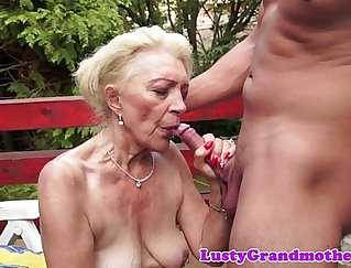 Amateur Outdoor with a Muscular Mature Woman