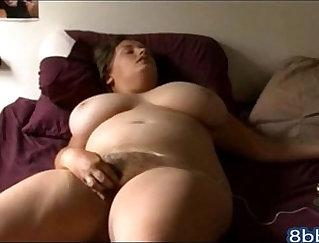 Crossdressing slutty MILF takes fat studs dick in both holes