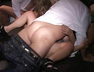 BBW milf sluts shagging dudes at orgy