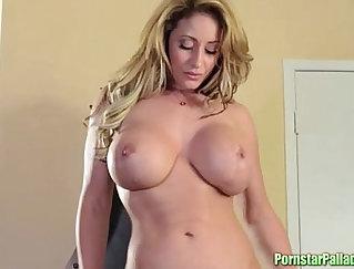 Amazing seductive girl addiction with Striptease and Masturbation