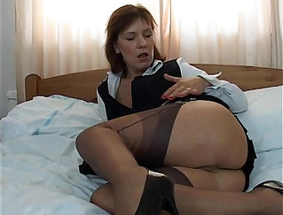 Babe in socks and stockings bonks a lucky dude