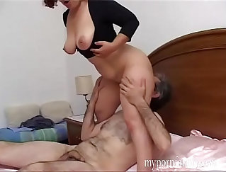 Busty Italian chick tries to win husbands cock