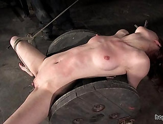 Bdsm looking chick is fucked from behind and facialized