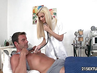 Big tit married nurse and her patient eat out each others wet pussies