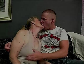 granny and young guy film themselves rimming