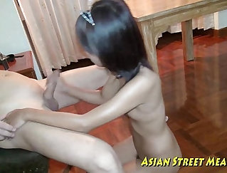 asian assfucked for cash from behind at work