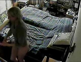 Blonde Masturbating Outside On Hidden Camera
