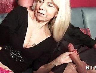 Big tit mature Sarita double penetrated