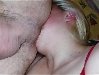 Blonde MILF jumps off a big fat dick