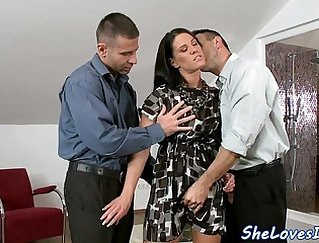 Big cock Crowned Double Penetrated