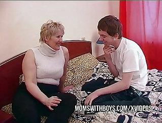 Big Fat Mom Seduced Her New Son