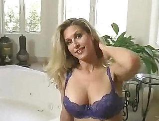 BBW Guy Anal Boobs - Hot blondie barebacks her mate in bed