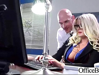 Busty raven haired slut gives head to her co-worker at the office
