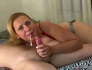Beautiful maided housewife in best squeeze performing blowjob