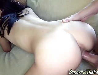 couch HOT PORN with Sneaker Bucking scene Part