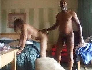 Cuckold hubby films wife fucking black cock