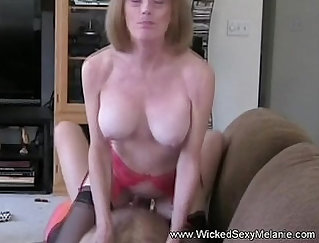 Année auditions with a moms flash and receives creampie for peeping