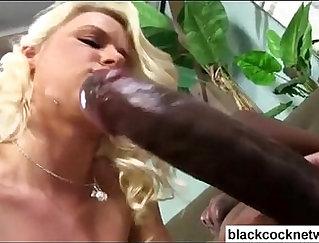 Black Blonde Masturbates With Little Vibe On Tock