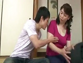 Busty mom fingers her pussy in hd and banged by germinal pinboy