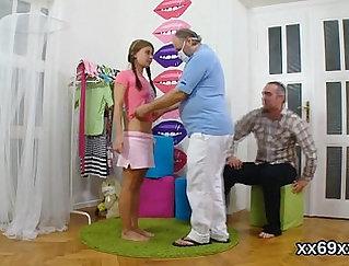 Amazing Virgin teen shows her clitoris